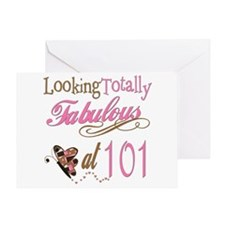 Fabulous 101st Greeting Card