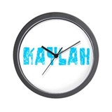 Kaylah Faded (Blue) Wall Clock