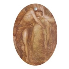 Orpheus & Eurydice Oval Ornament