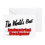 &quot;The World's Best Industrial Designer&quot; Greeting Ca