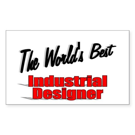"""The World's Best Industrial Designer"" Sticker (Re"