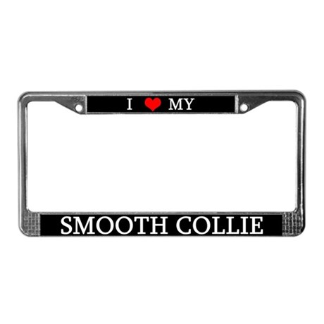 Love Smooth Collie License Plate Frame