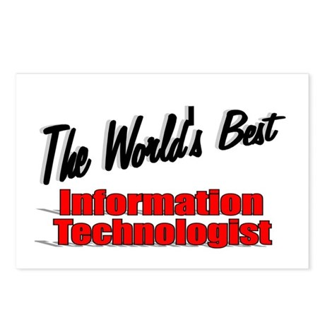 &quot;The World's Best Information Technologist&quot; Postca