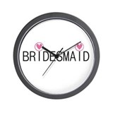 Hearts Bridesmaid Wall Clock