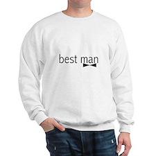 Bow Tie Best Man Sweatshirt
