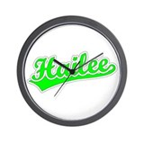 Retro Hailee (Green) Wall Clock