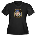 Baltimore County PD Women's Plus Size V-Neck Dark