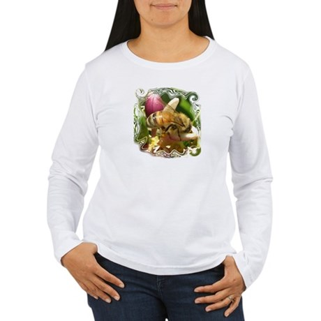 Honeybee Close Up Women's Long Sleeve T-Shirt