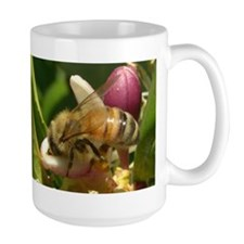 Honeybee Close Up Large Mug