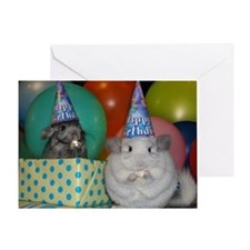 chinchilla party Greeting Cards