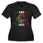 Raleigh Women's Plus Size V-Neck Dark T-Shirt