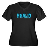 Khalid Faded (Blue) Women's Plus Size V-Neck Dark