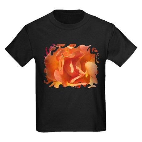 Rose Close Up Kids Dark T-Shirt
