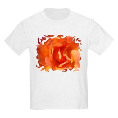 Rose Close Up Kids Light T-Shirt