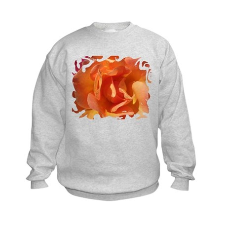 Rose Close Up Kids Sweatshirt