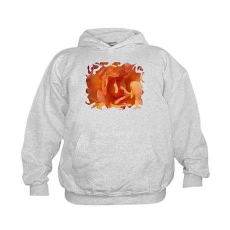 Rose Close Up Kids Hoodie