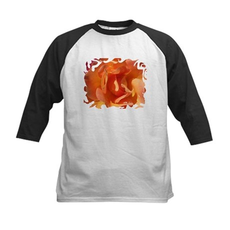 Rose Close Up Kids Baseball Jersey