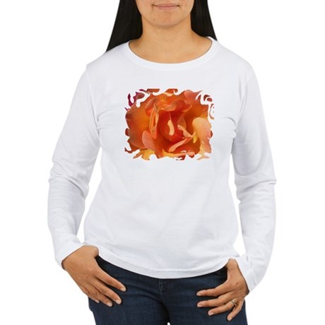Rose Close Up Women's Long Sleeve T-Shirt