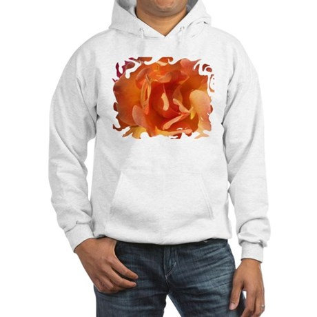 Rose Close Up Hooded Sweatshirt