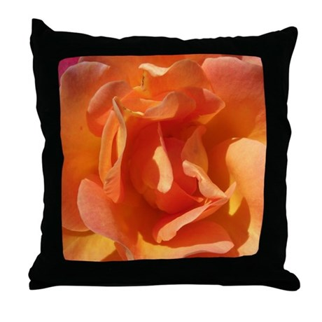 Rose Close Up Throw Pillow