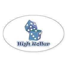 High Roller Oval Sticker (50 pk)