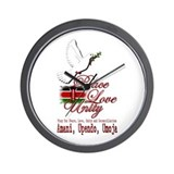 Pray for Kenya - Wall Clock