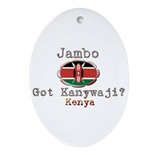 Jambo, Got Kanywaji? - Oval Ornament