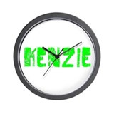 Kenzie Faded (Green) Wall Clock