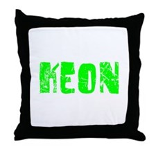 Keon Faded (Green) Throw Pillow