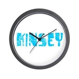 Kinsey Faded (Blue) Wall Clock