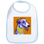 Greyhound dog art Bib