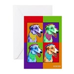 Greyhound dog art Greeting Cards (Pk of 10)