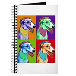 Greyhound dog art Journal