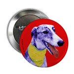 Greyhound dog art Button