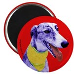 Greyhound dog art Magnet