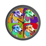 Greyhound dog Wall Clock