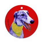Greyhound dog art Keepsake (Round)