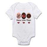 Peace Love Vinyl Record Onesie