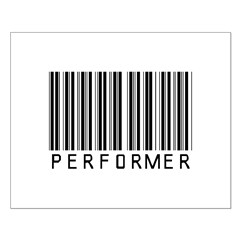 Performer Barcode Small Poster