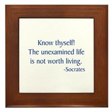 Socrates 1 Framed Tile