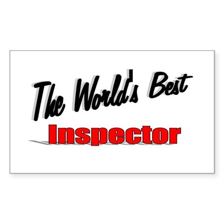 &quot;The World's Best Inspector&quot; Rectangle Sticker