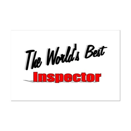 &quot;The World's Best Inspector&quot; Mini Poster Print