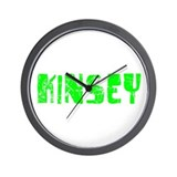 Kinsey Faded (Green) Wall Clock
