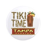 "Tampa Tiki Time - 3.5"" Button"