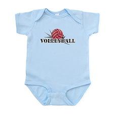 Volleyball starburst red Infant Bodysuit