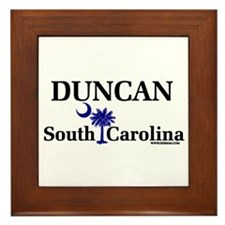 Duncan South Carolina Framed Tile