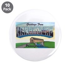 "Harrisburg Pennsylvania Greetings 3.5"" Button (10"