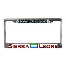 How Di Bodi? Sierra Leone - License Plate Frame