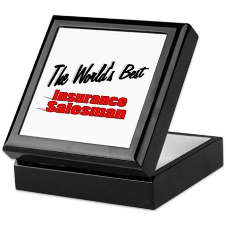 """The World's Best Insurance Salesman"" Keepsake Box"