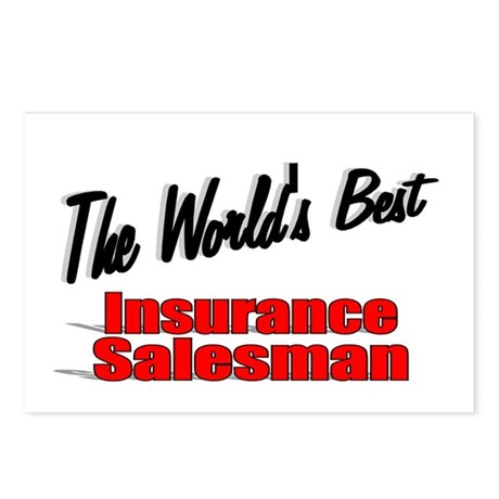 """The World's Best Insurance Salesman"" Postcards (P"